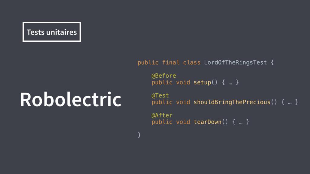 Robolectric public final class LordOfTheRingsTe...