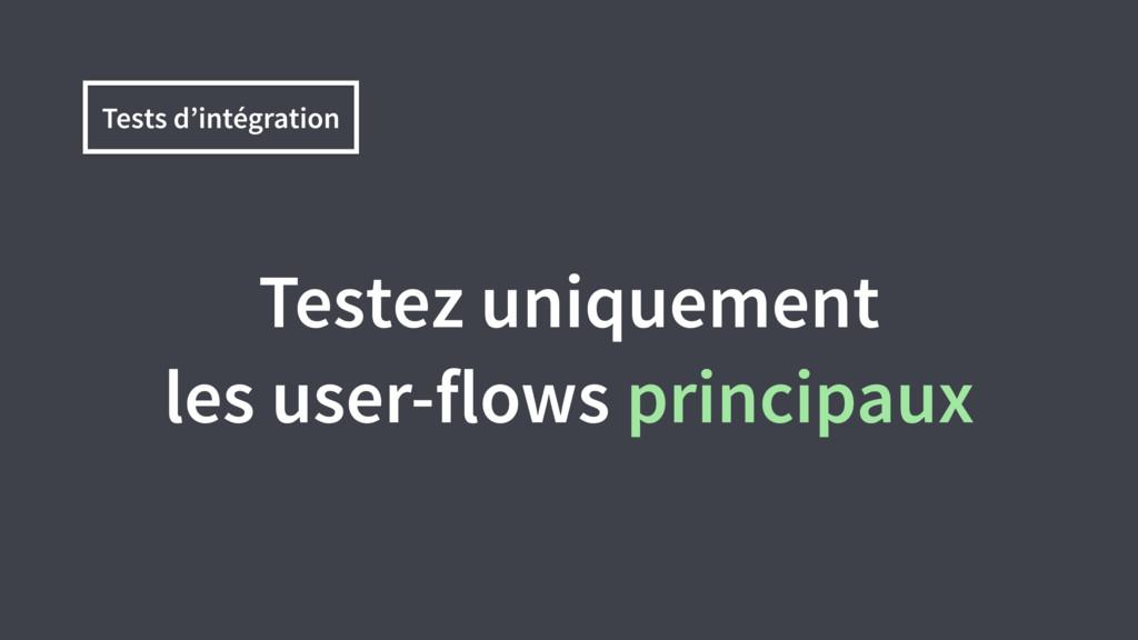 Tests d'intégration Testez uniquement les user-...