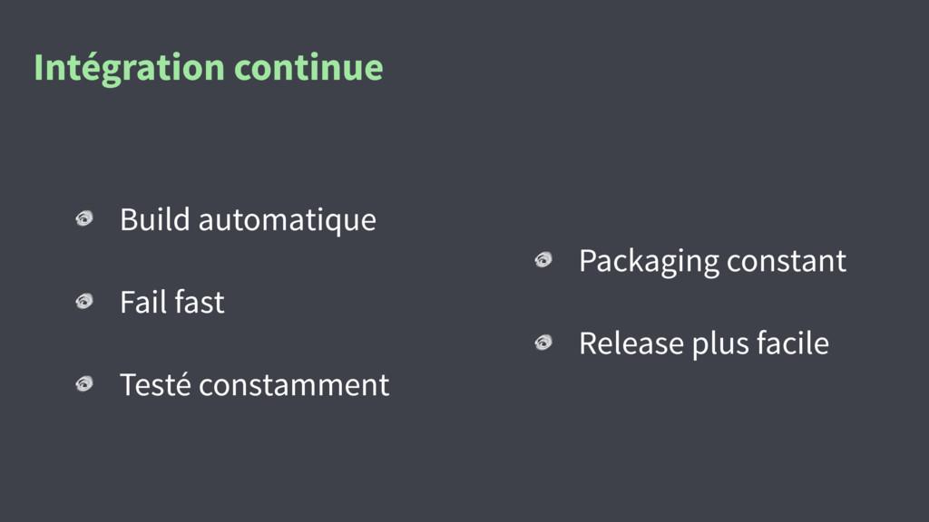 Intégration continue Build automatique Fail fas...