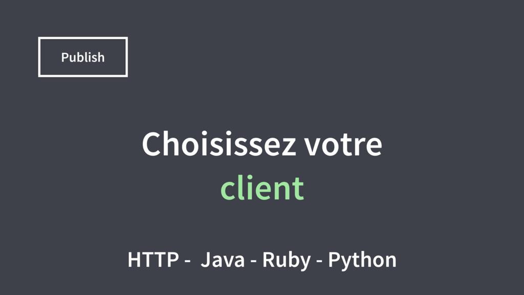 Choisissez votre client HTTP - Java - Ruby - Py...