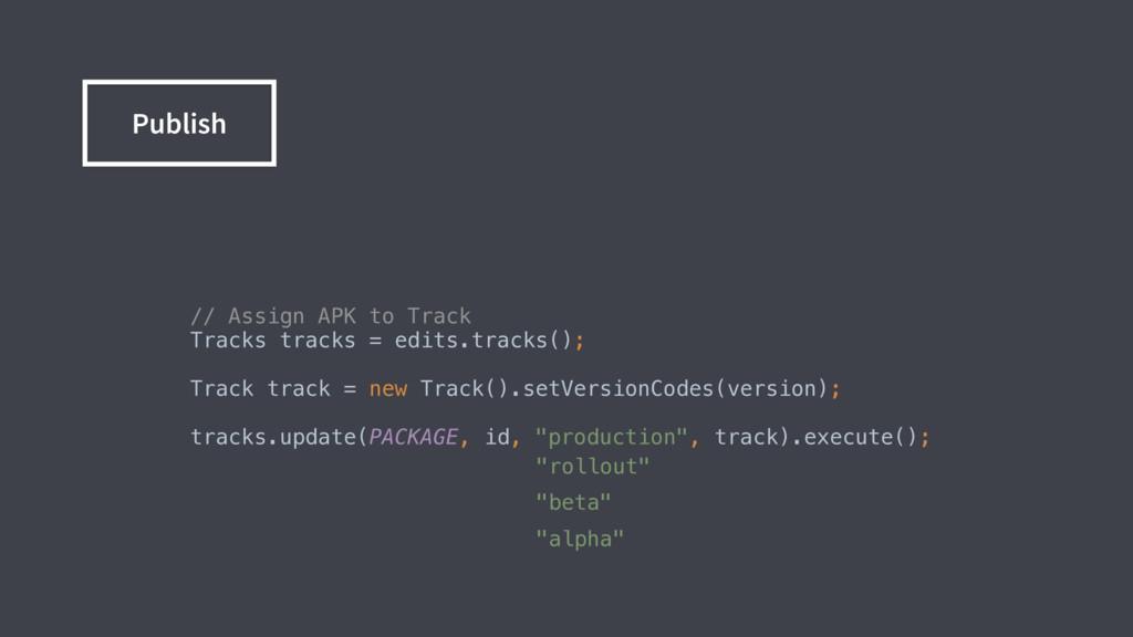 // Assign APK to Track Tracks tracks = edits...