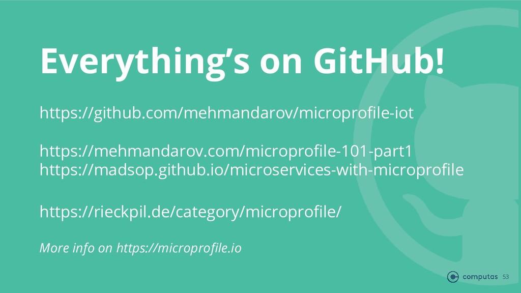 Everything's on GitHub! 53 https://github.com/m...