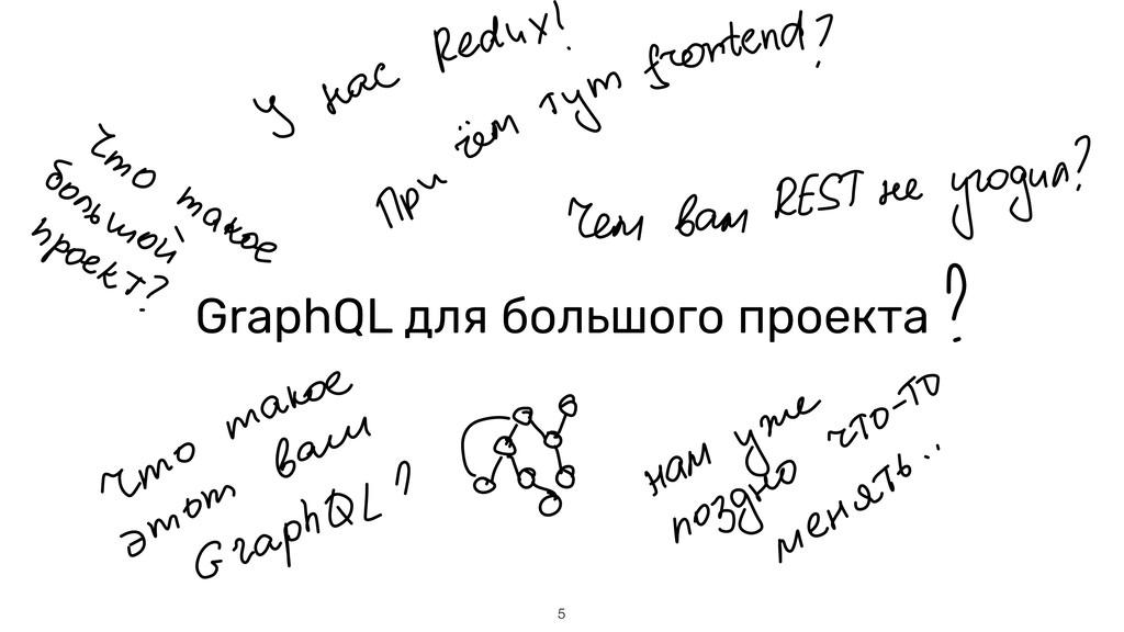 GraphQL для большого проекта !5