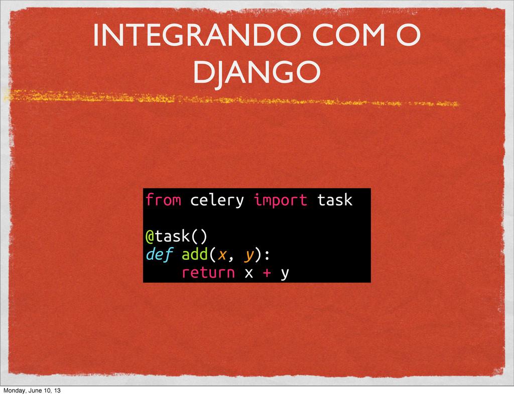 INTEGRANDO COM O DJANGO from celery import task...