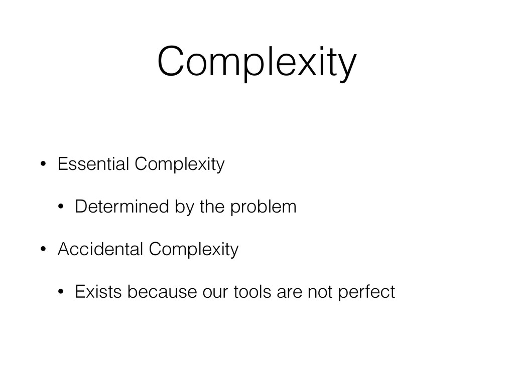 Complexity • Essential Complexity • Determined ...