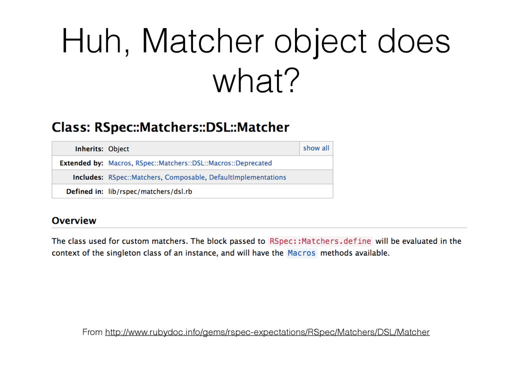 Huh, Matcher object does what? From http://www....