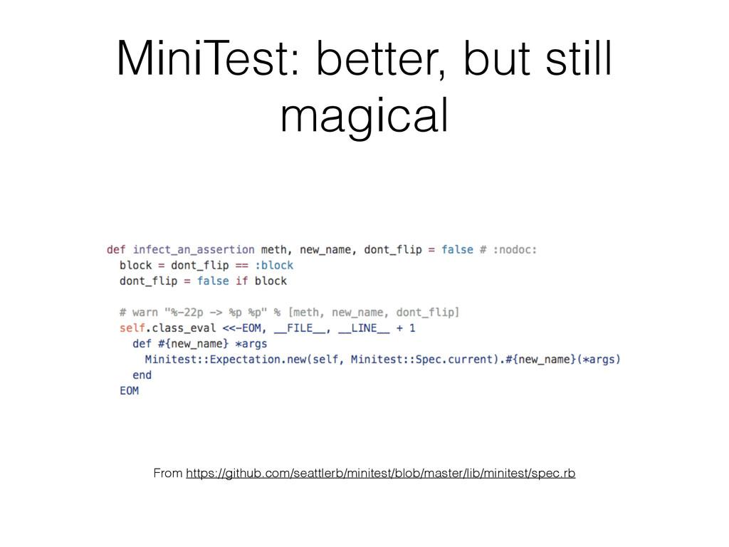 MiniTest: better, but still magical From https:...