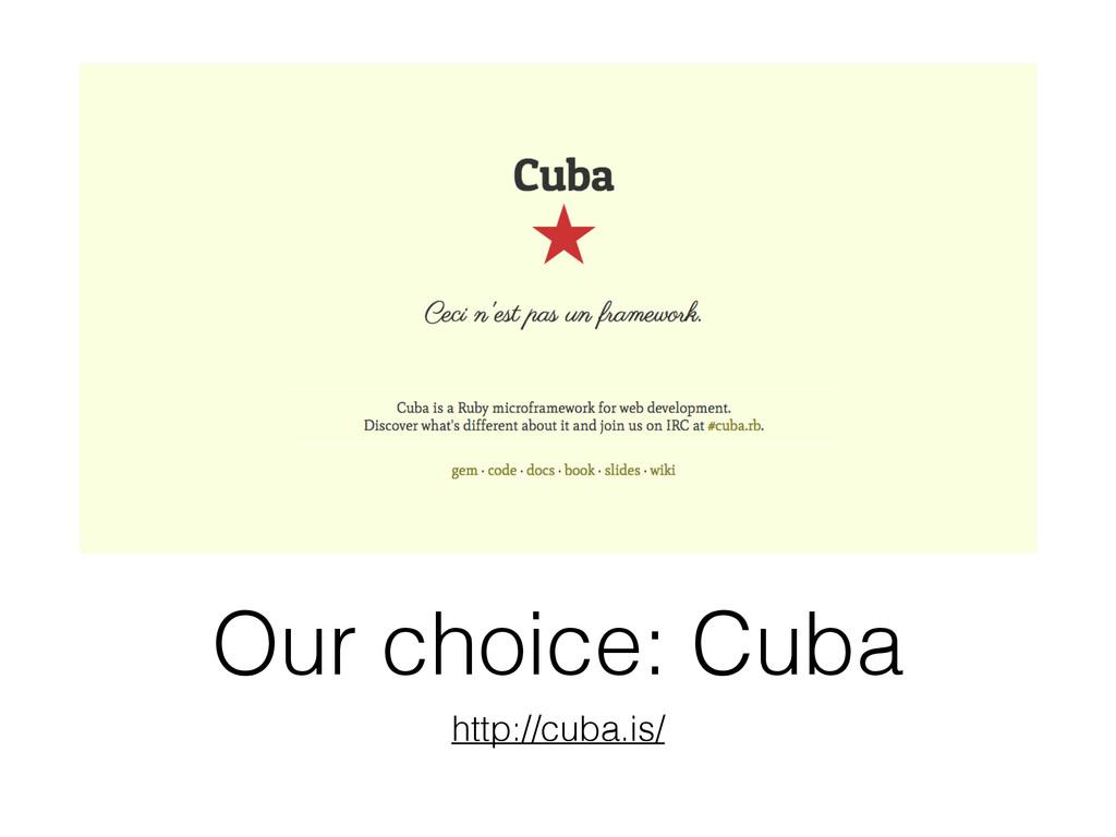 Our choice: Cuba http://cuba.is/
