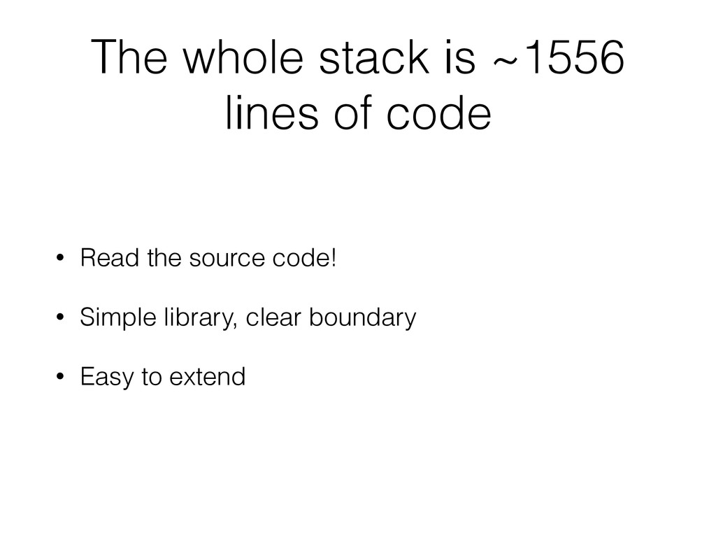 The whole stack is ~1556 lines of code • Read t...
