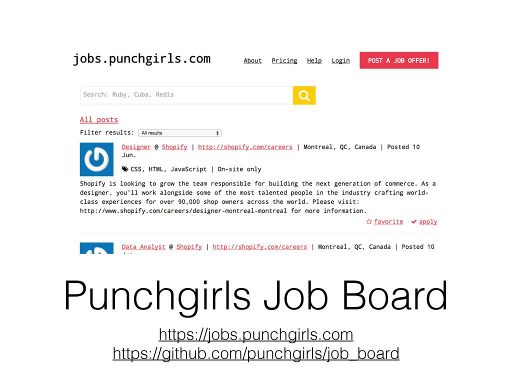 Punchgirls Job Board https://jobs.punchgirls.co...