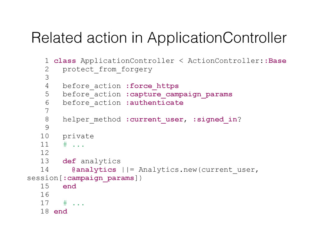 Related action in ApplicationController 1 class...