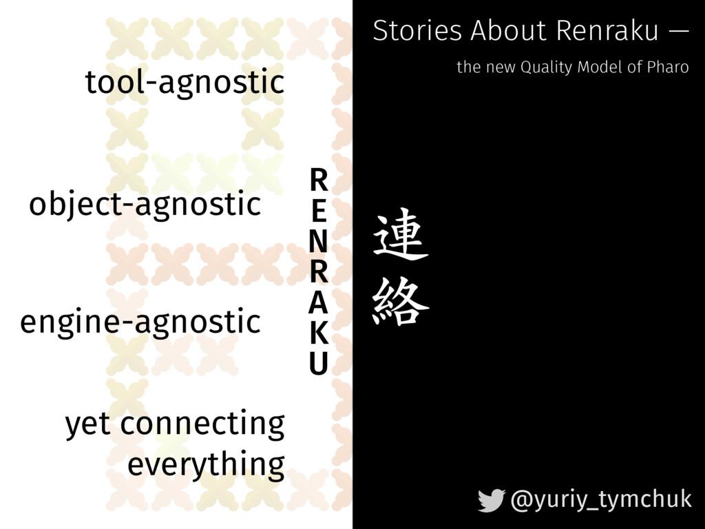 R E N R A K U object-agnostic tool-agnostic...