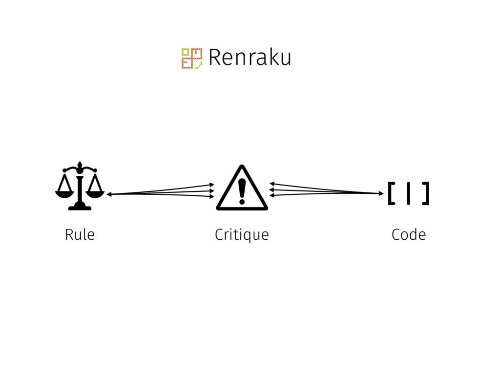 Renraku [|] Critique Rule Code
