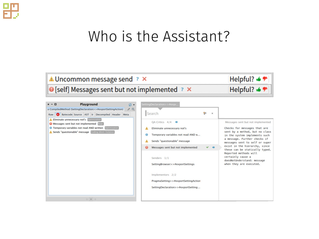 Who is the Assistant?