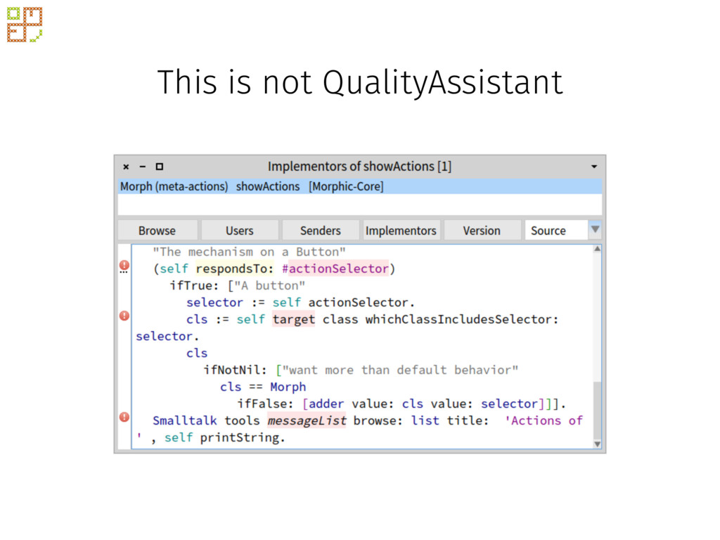 This is not QualityAssistant
