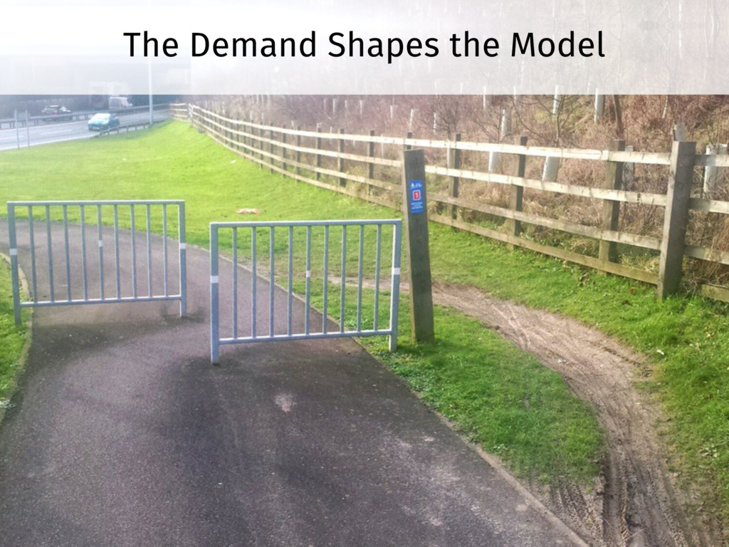 The Demand Shapes the Model