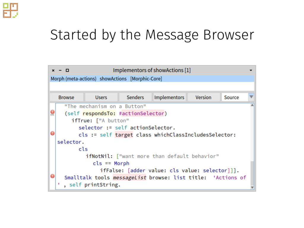 Started by the Message Browser