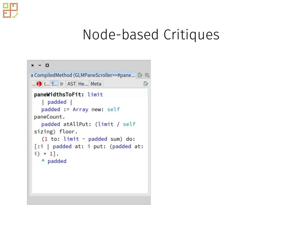 Node-based Critiques