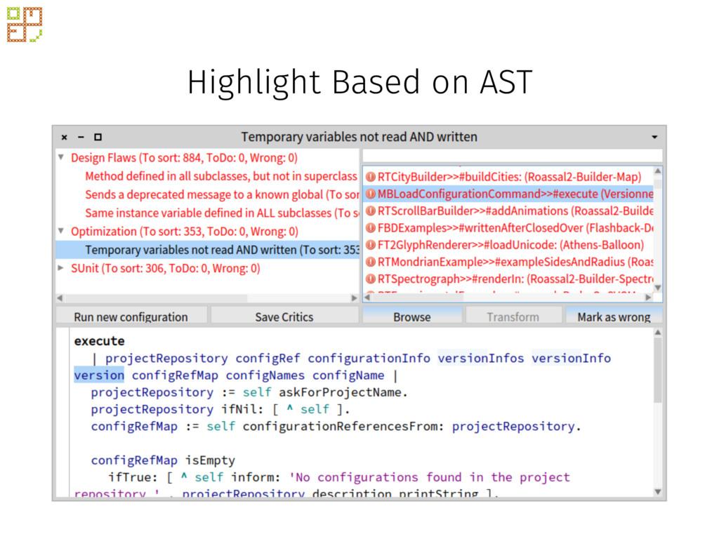 Highlight Based on AST