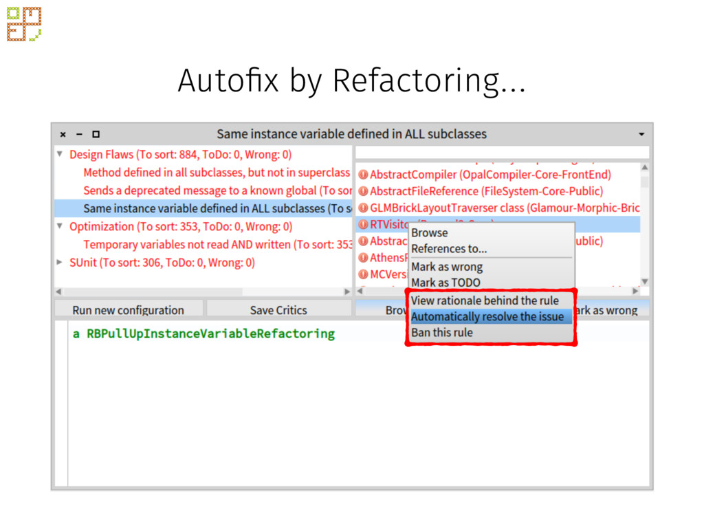Auto!x by Refactoring…