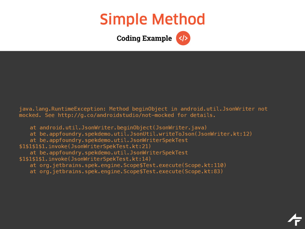 Coding Example Simple Method java.lang.RuntimeE...