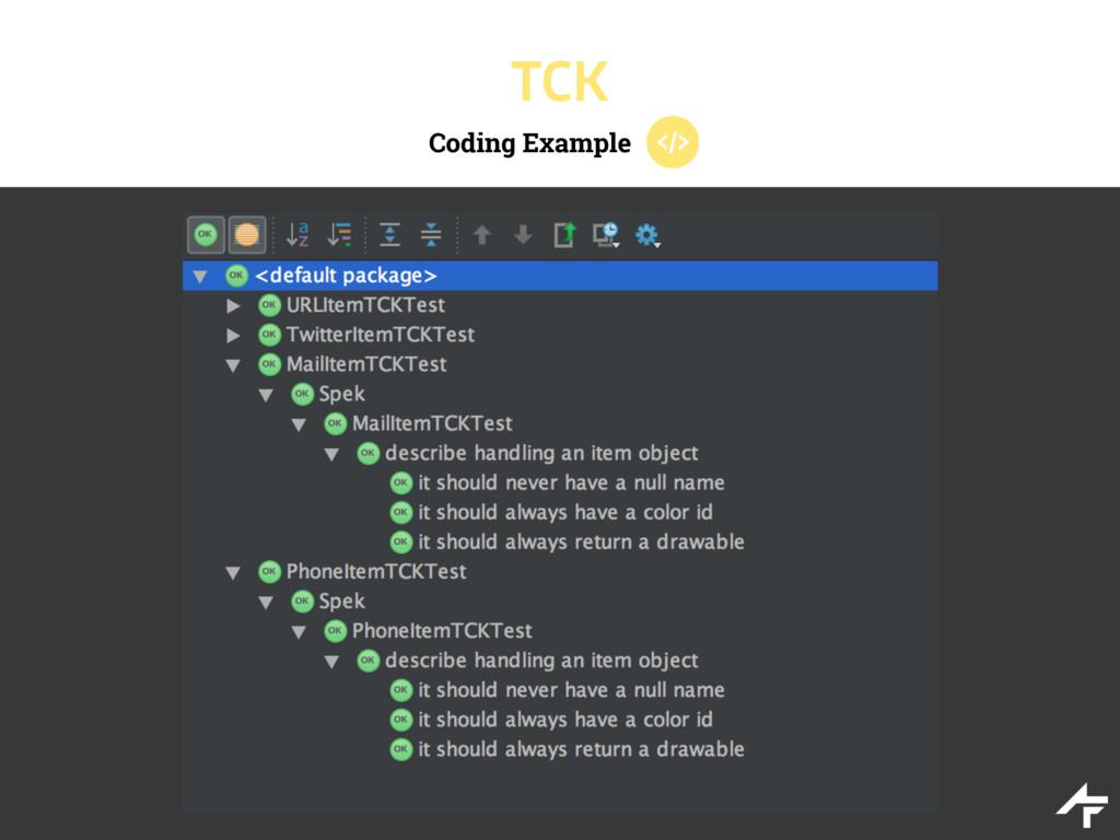 Coding Example TCK