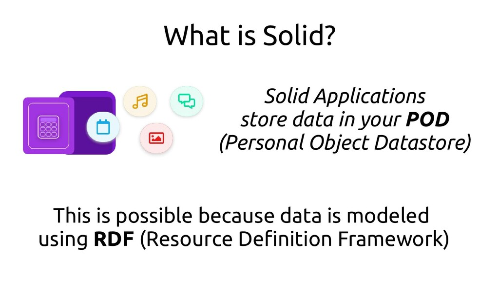 What is Solid? Solid Applications store data in...