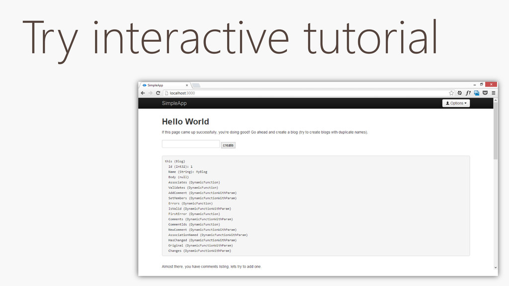 Try interactive tutorial