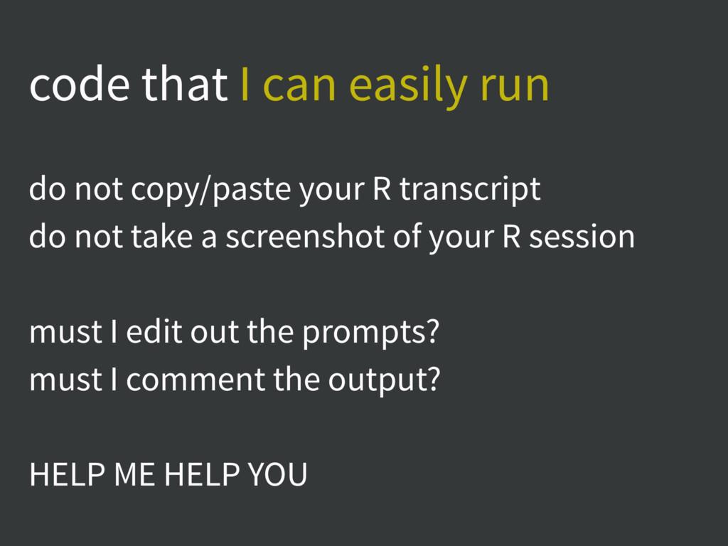 code that I can easily run do not copy/paste yo...