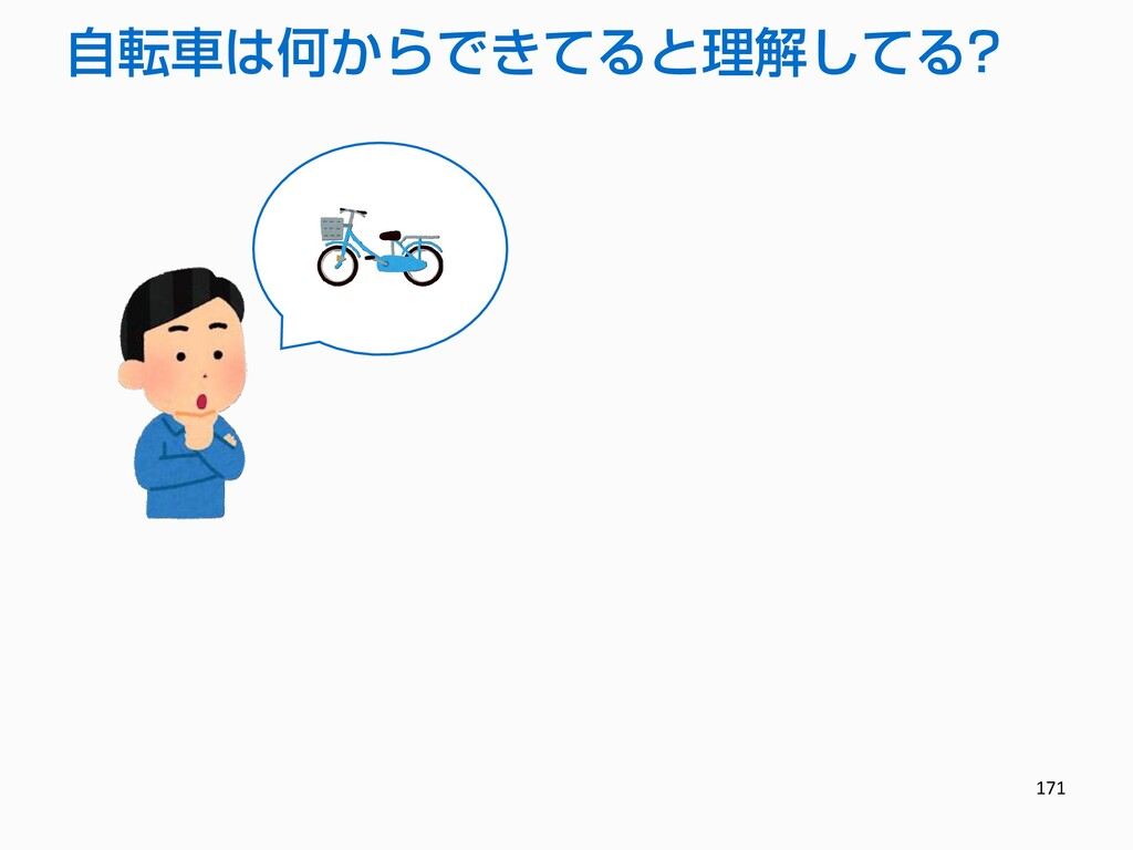 171 自転車は何からできてると理解してる?