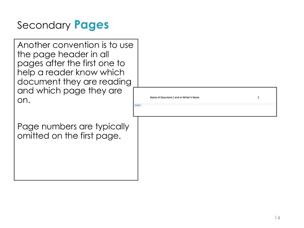 Secondary Pages Another convention is to use th...