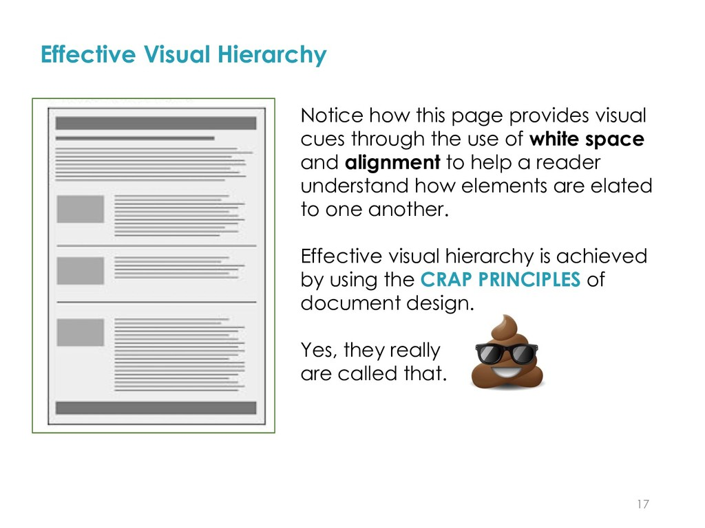 17 Effective Visual Hierarchy Notice how this p...