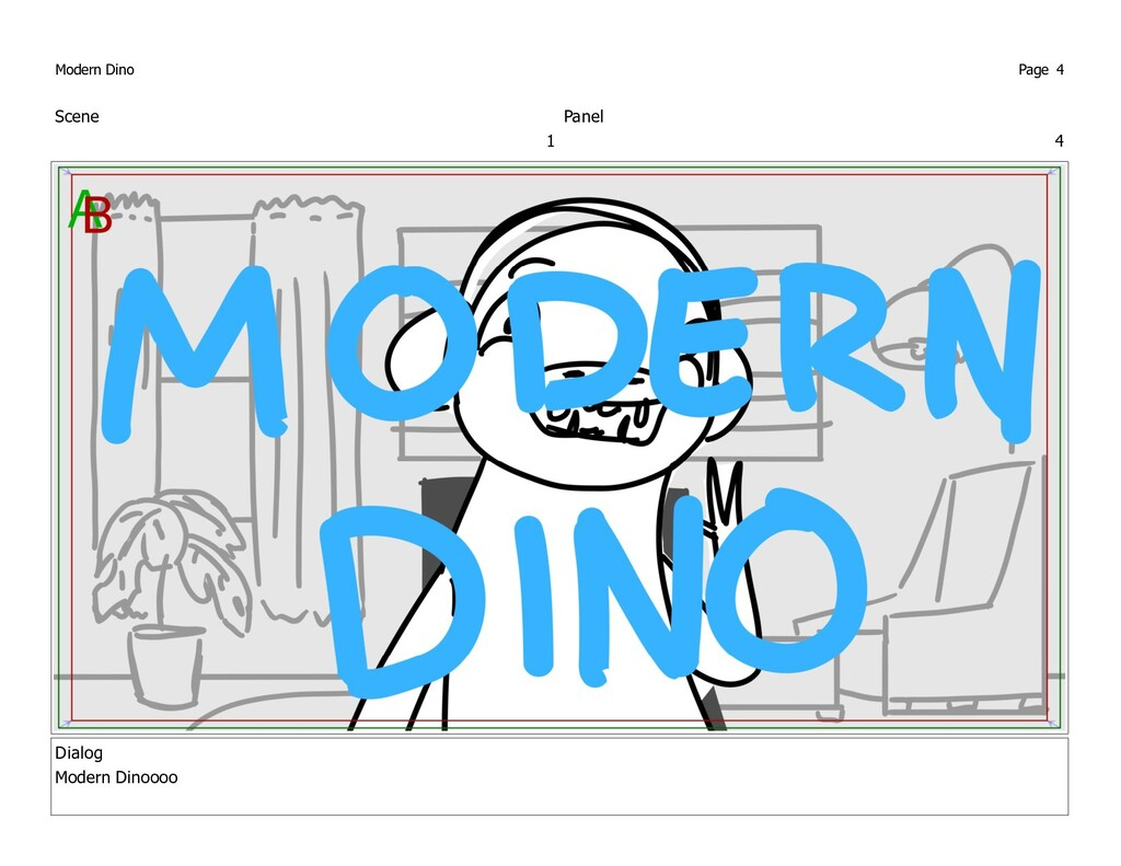 Scene 1 Panel 4 Dialog Modern Dinoooo Modern Di...
