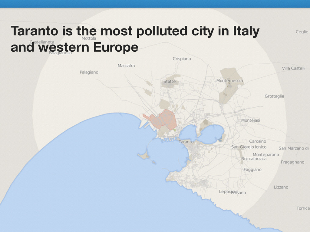Taranto is the most polluted city in Italy and ...