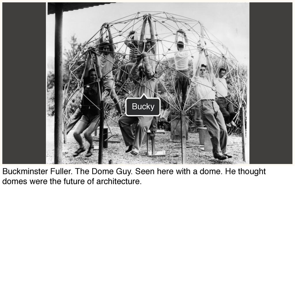 Bucky Buckminster Fuller. The Dome Guy. Seen he...