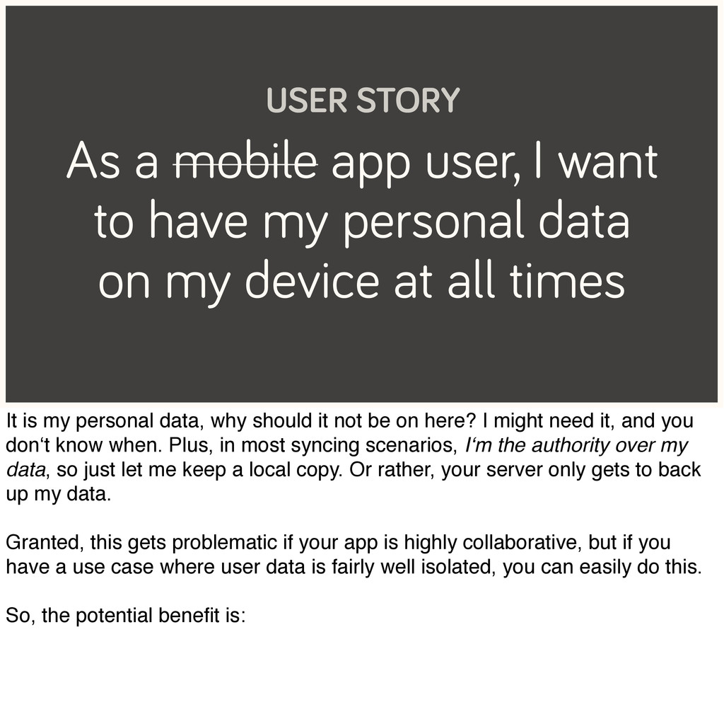 As a mobile app user, I want to have my persona...