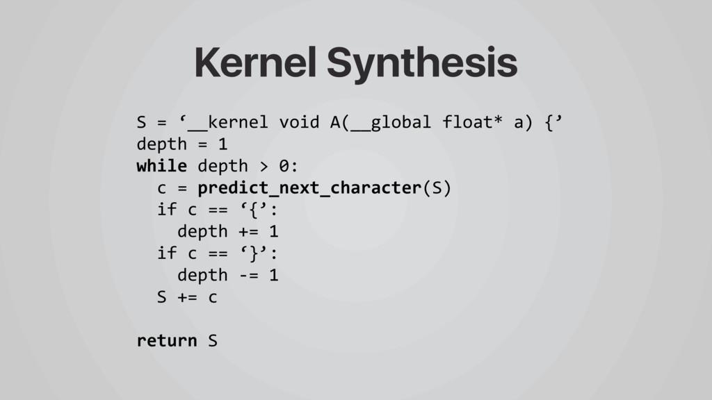 S = '__kernel void A(__global float* a) {' dept...