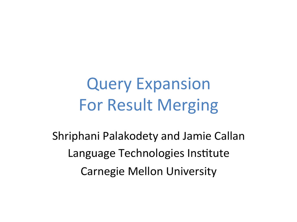 Query	