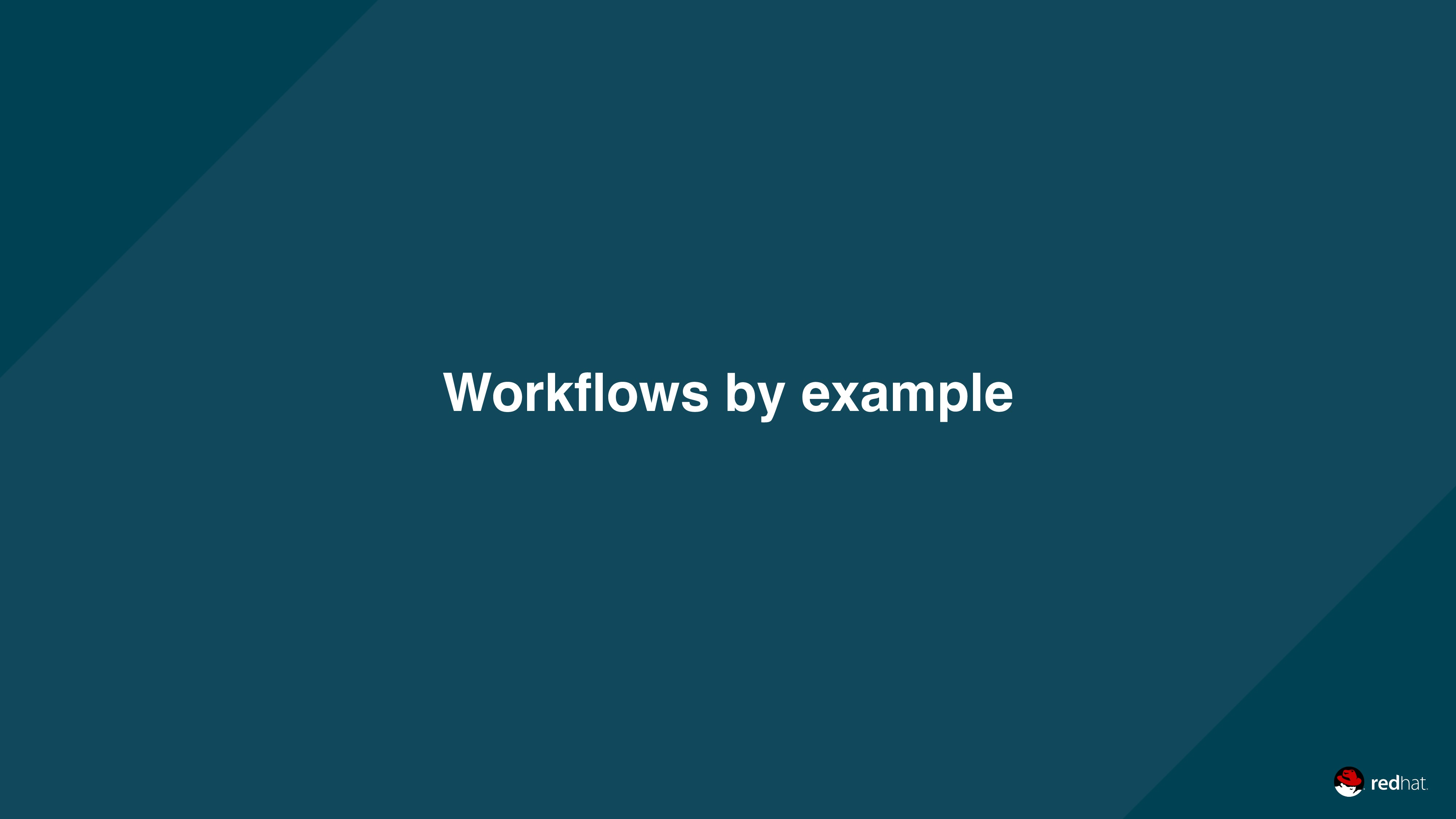 Workflows by example