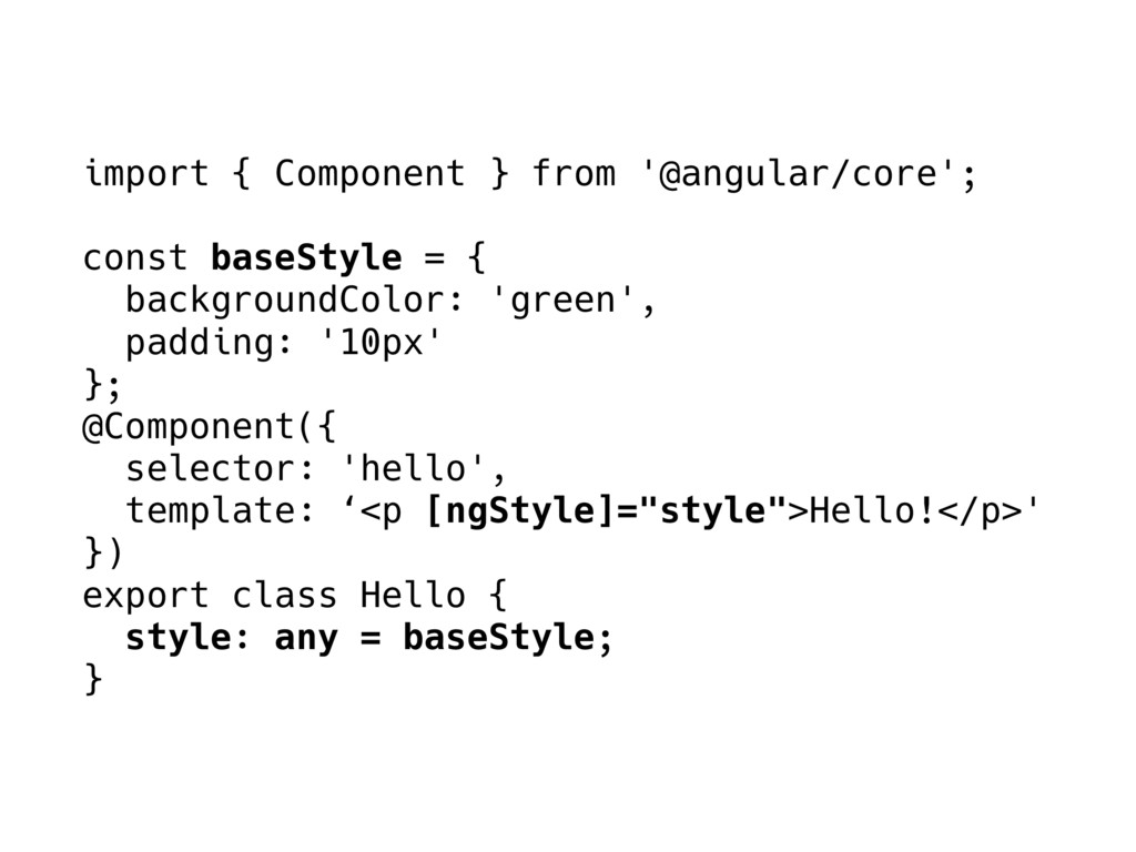 import { Component } from '@angular/core'; cons...