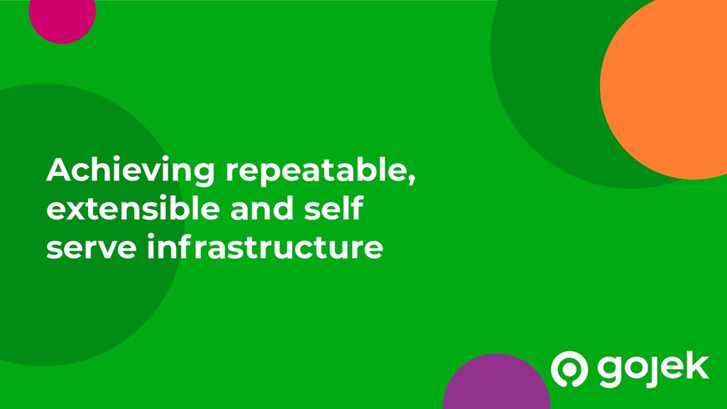 Achieving repeatable, extensible and self serve...