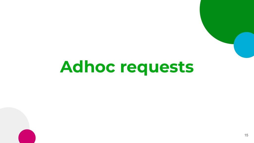 Adhoc requests 15