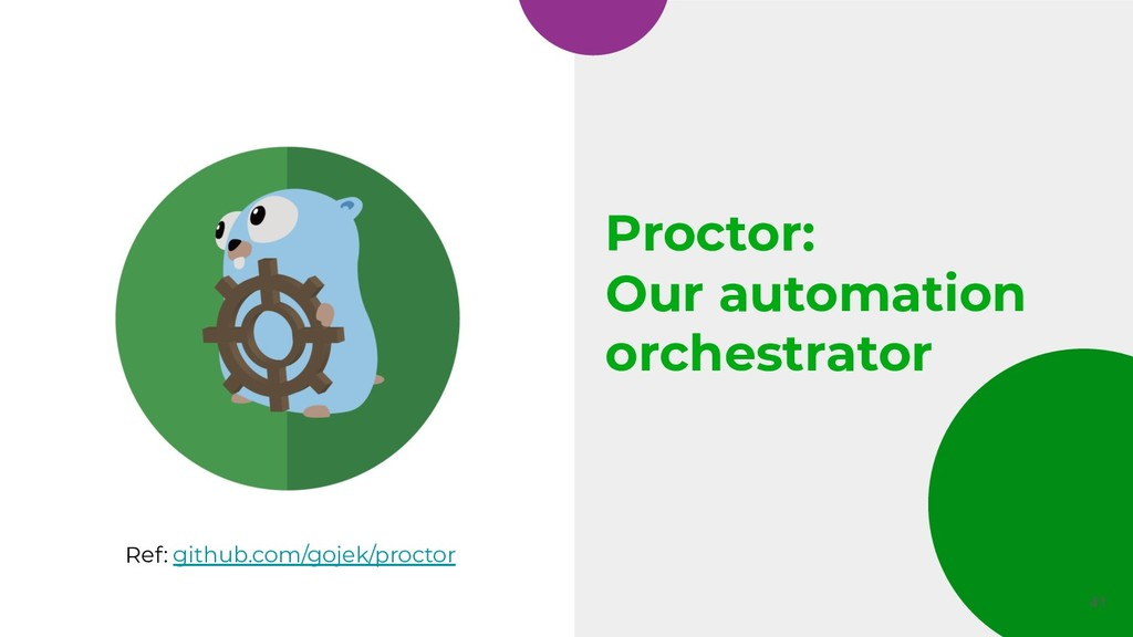 Proctor: Our automation orchestrator 41 Ref: gi...