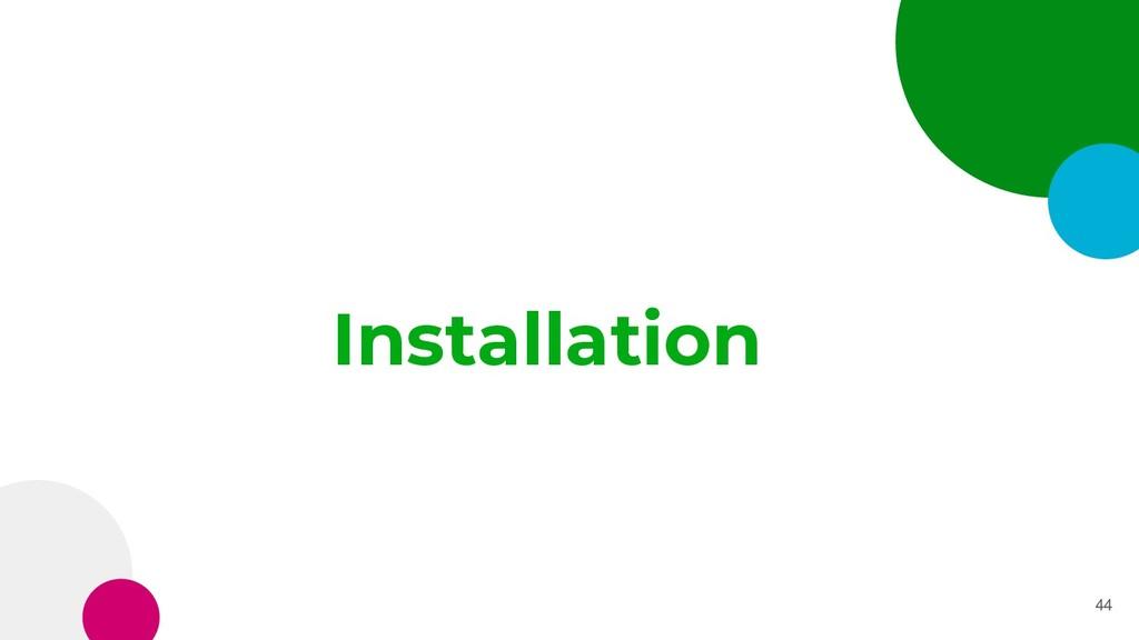 Installation 44