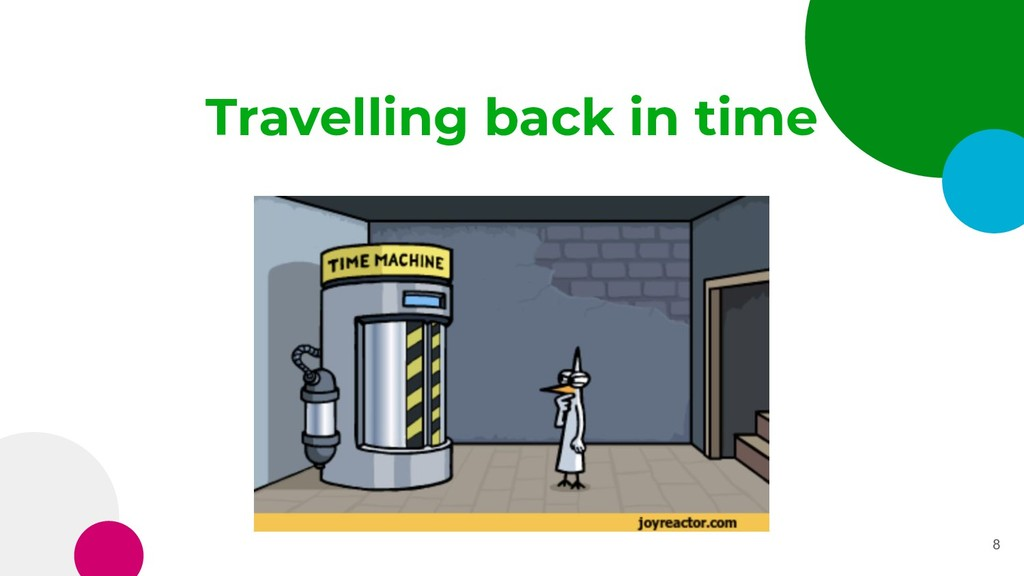 Travelling back in time 8