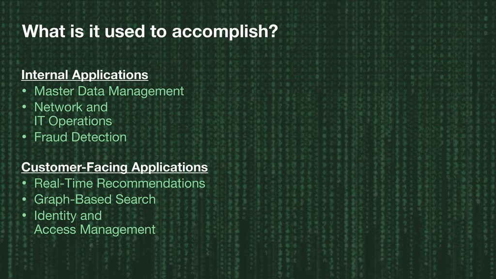 What is it used to accomplish? Internal Applica...