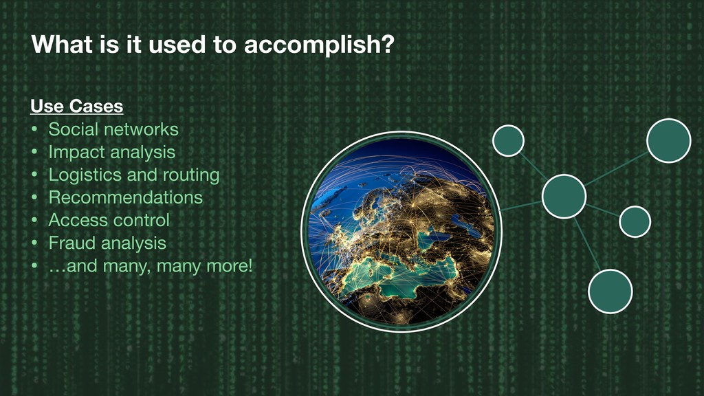 What is it used to accomplish? Use Cases • Soci...