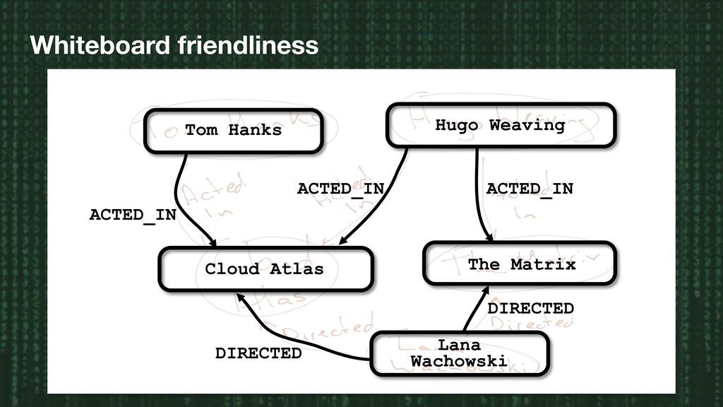 Whiteboard friendliness The Matrix Cloud Atlas ...