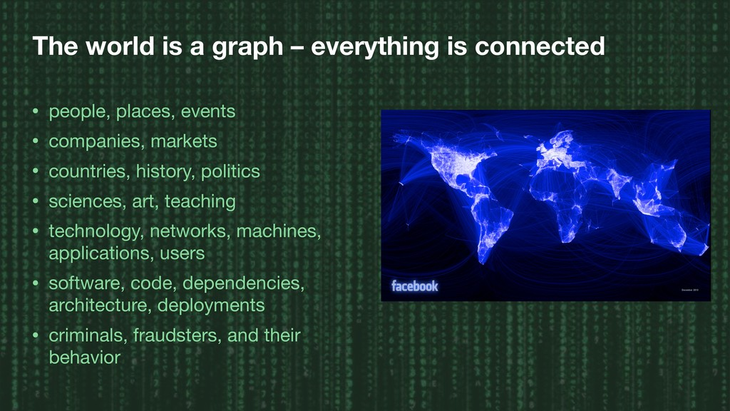 The world is a graph – everything is connected ...
