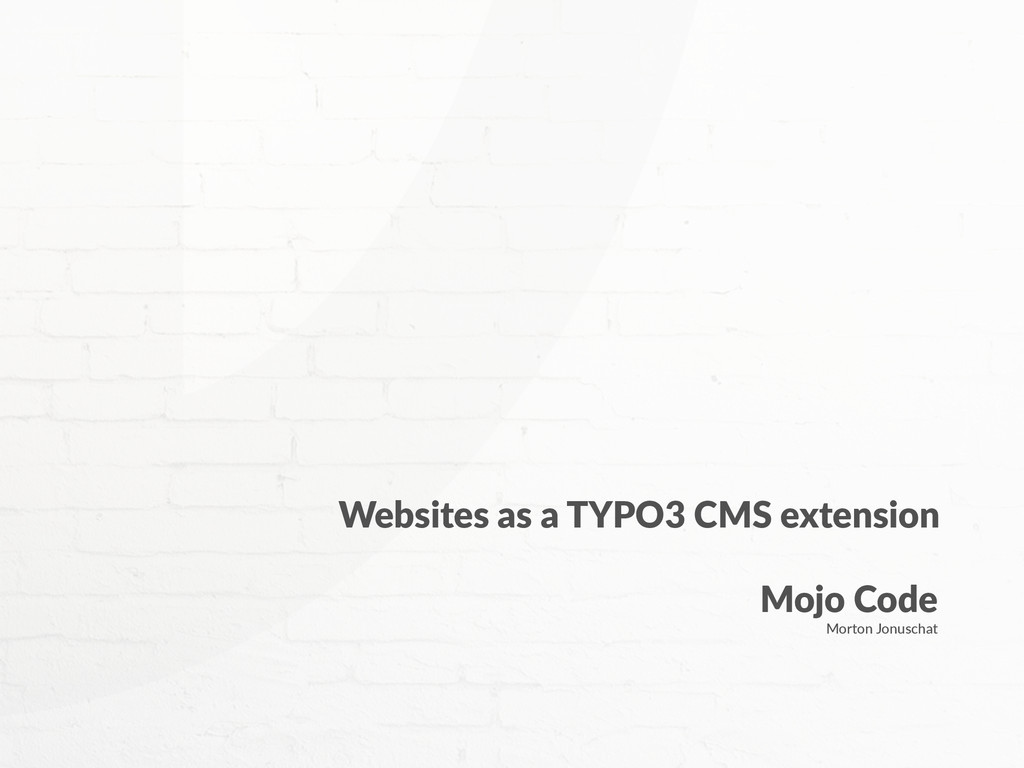 Websites  as  a  TYPO3  CMS  extension Mojo  Co...